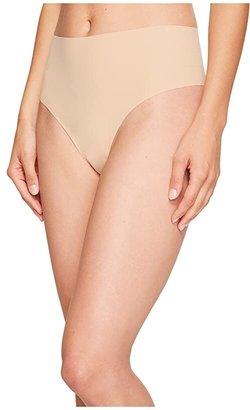 Commando Solid High-Rise Thong HRT01 (Black) Women's Underwear
