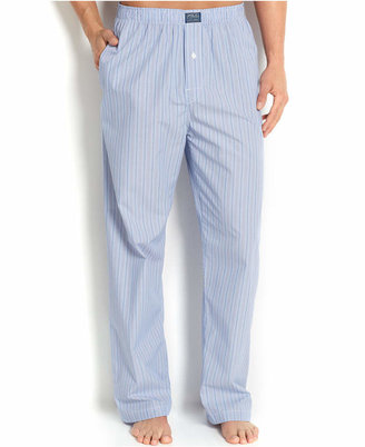Polo Ralph Lauren Big and Tall Blue Classic Andrew Stripe Cotton Men's Pajama Pants $50 thestylecure.com