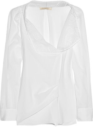 Vanessa Bruno Cotton and broderie anglaise blouse