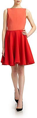 Antonio Berardi Colorblock Flare Dress