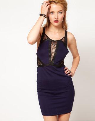 Style Stalker Stylestalker Meet Me At Midnight Panelled Lace Dress