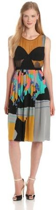 Tracy Reese Women's Combo Frock With Contrast Cups