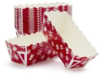 Sur La Table Holiday Mini Paper Loaf Molds, Set of 12