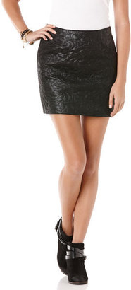 C&C California Embossed faux leather skirt