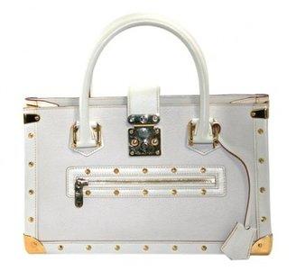 Louis Vuitton excellent (EX White Suhali Leather Le Fabuleux Shopper Bag