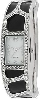 JCPenney Womens Dressy Crystal-Accent Cuff Watch