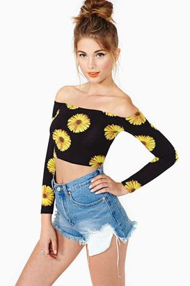 Nasty Gal Sunflower Crop Top