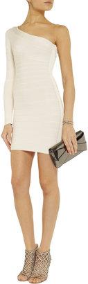 Herve Leger Asymmetric bandage mini dress