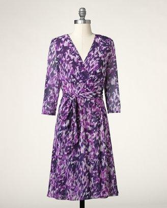 Coldwater Creek Lavender fields mesh dress