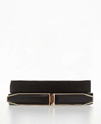 Ann Taylor Jewel Clasp Skinny Stretch Belt