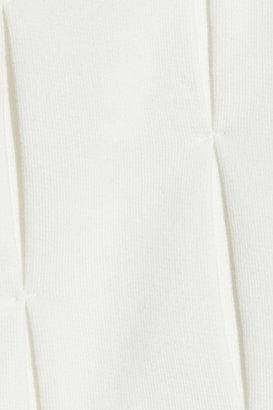 J.W.Anderson Pleated cotton-terry sweatshirt