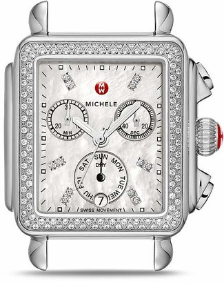 MICHELE Deco Diamond Dial Watch Head, 33 x 35mm $1,795 thestylecure.com