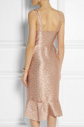 Lanvin Distressed metallic brocade dress