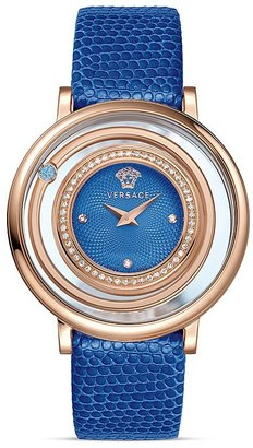 Versace Venus Rose Gold PVD Watch with Lizard Strap, 39mm $3,650 thestylecure.com