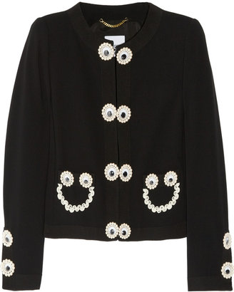 Moschino Appliquéd crepe jacket