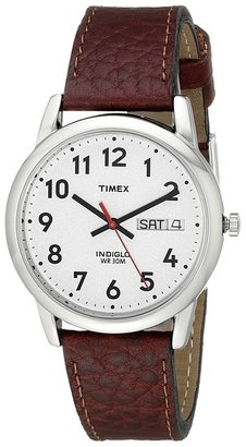 Timex - Easy Reader Brown Leather Watch #T20041 Watches $45 thestylecure.com