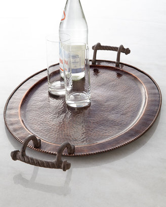 """GG Collection Large Oval """"Antique Copper"""" Tray"""