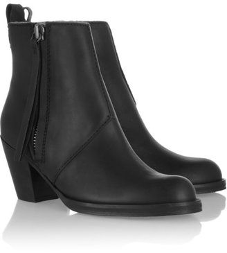 Acne The Pistol leather ankle boots