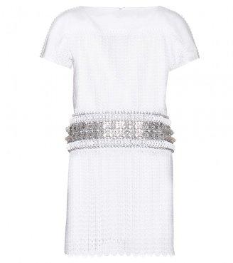 Paco Rabanne EMBELLISHED SHIFT DRESS