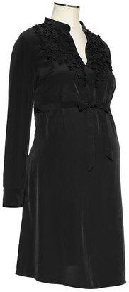 Gap Ruffle split-neck dress