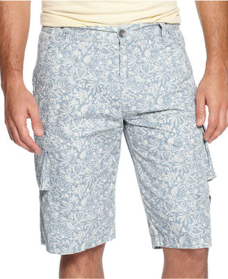 INC International Concepts Shorts, Paisley Cargo Shorts
