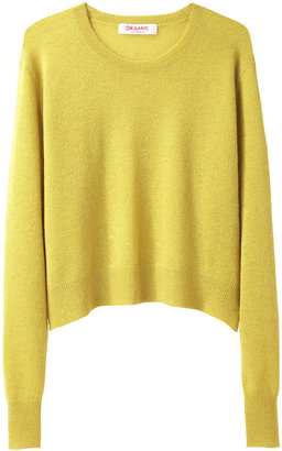 Organic by John Patrick Cropped Knit Pullover