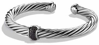 David Yurman Cable Classics Bracelet with Black Diamonds $695 thestylecure.com