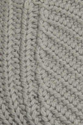 Alexander Wang Chunky-knit cotton-blend cropped sweater