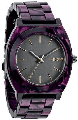Nixon The Time Teller Acetate Watch in Gunmetal Velvet