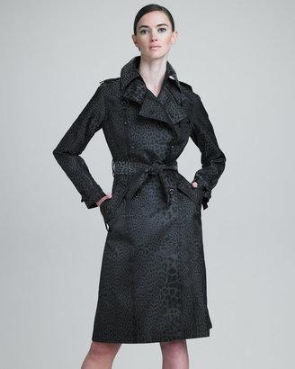 Yves Saint Laurent Leopard-Print Trenchcoat