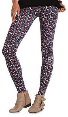 Charlotte Russe Triangle Print Cotton Legging