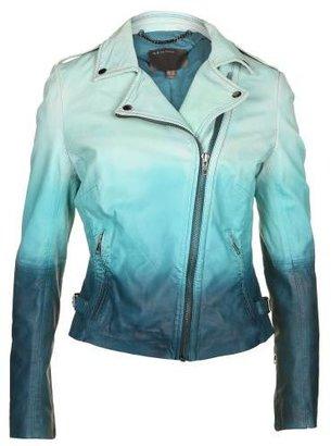 Muu Baa Muubaa Women's Ocean Blue Ombre Leather Jacket