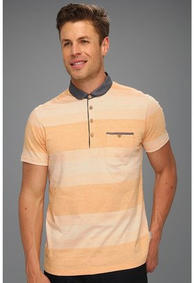 Ted Baker Wedidit Curved Collar Polo (Gold) - Apparel