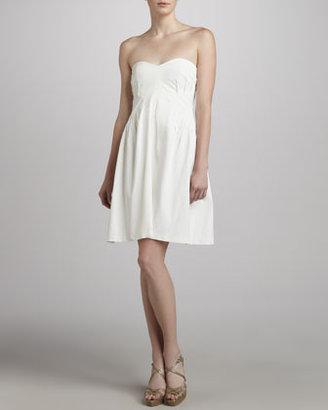Zac Posen Strapless Sweetheart Dress, White