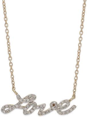Diamond Love Pendant Necklace in (1/6 ct. t.w.)