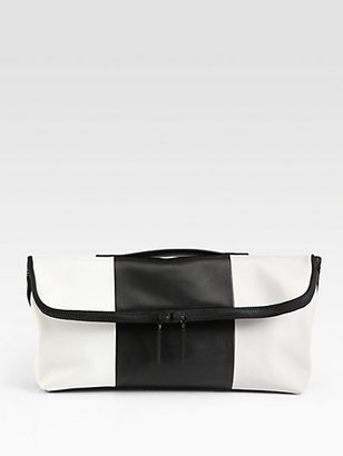 3.1 Phillip Lim Minute Colorblocked Oversized Clutch