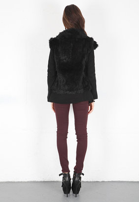 Minnie Rose Cashmere Duster with Fur Vest -