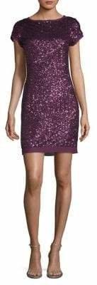 Vince Camuto Sequin Pattern Sheath Dress