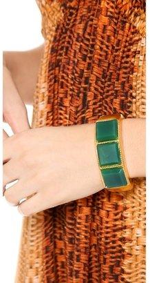 Kenneth Jay Lane Jade Square Cuff Bracelet