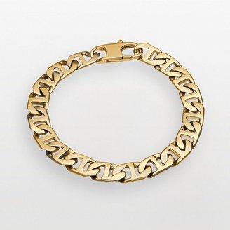 Stainless steel gold tone mariner chain bracelet
