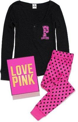 Victoria's Secret PINK Long-sleeve Thermal & Legging Gift Set