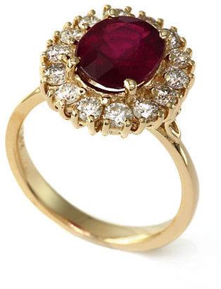 EFFY Ruby Royalé 14Kt. Yellow Gold Ruby and Diamond Ring