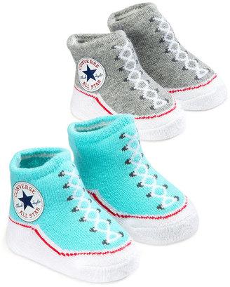 Converse Baby Socks, Baby Boys or Baby Girls 2-Pack Booties