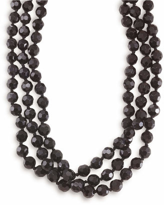 Carolee Necklace, Jet Bead Long Rope $65 thestylecure.com