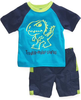 Nannette Baby Boys' 2-Piece Glow-in-the-Dark Shirt & Shorts Set