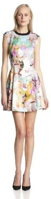 Ted Baker Women's Jeneyy Floral Print Fit-and-Flare Dress