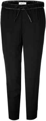 Helmut Lang Drawstring Pants with Leather Waistband