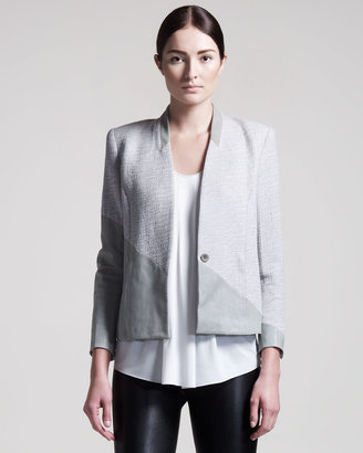 Helmut Lang Warped Suiting Blazer