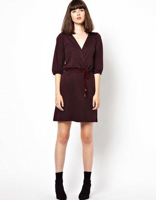 Sessun 70s Jersey Dress with Plaited Belt