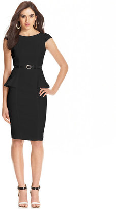 XOXO Juniors' Cap-Sleeve Peplum Sheath Dress $39.98 thestylecure.com